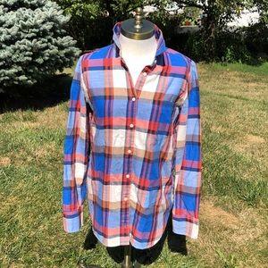J.Crew plaid Boy fit shirt